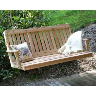 Creekwine Design WF2SEGSCVD 2' Cedar Countryside Porch Swing - Peazz Furniture