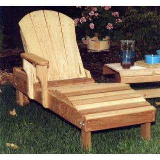 Creekwine Design WF5500CVD Cedar Adirondack Chaise Lounge - Peazz Furniture