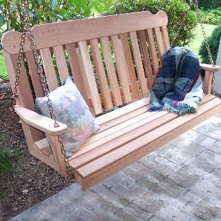 Creekwine Design WF5CSBSCVD 5' Cedar Classic Porch Swing - Peazz Furniture