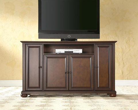 "Bayden Hill KF10001AMA Alexandria 60"" TV Stand in Vintage Mahogany Finish - Peazz.com"