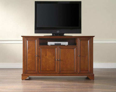 "Bayden Hill KF10001BCH LaFayette 60"" TV Stand in Classic Cherry Finish - Peazz.com"