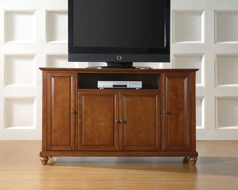"Bayden Hill KF10001DCH Cambridge 60"" TV Stand in Classic Cherry Finish - Peazz.com"