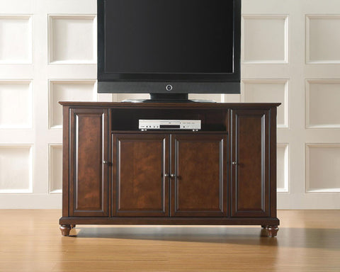 "Crosley Furniture KF10001DMA Cambridge 60"" TV Stand in Vintage Mahogany Finish - Peazz Furniture"