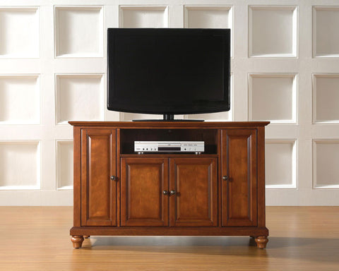"Crosley Furniture KF10002DCH Cambridge 48"" TV Stand in Classic Cherry Finish - Peazz Furniture"