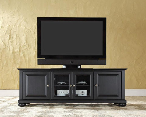 "Bayden Hill KF10005ABK Alexandria 60"" Low Profile TV Stand in Black Finish - Peazz.com"