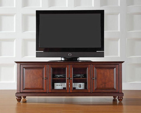 "Bayden Hill KF10005DMA Cambridge 60"" Low Profile TV Stand in Vintage Mahogany Finish - Peazz.com"