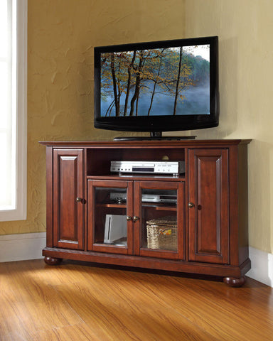 Crosley furniture kf10006bch lafayette 48 corner tv stand for Zfurniture alexandria