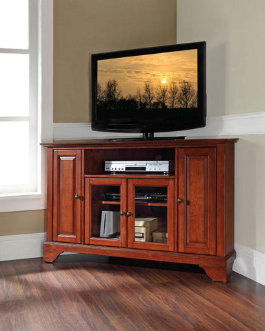 "Bayden Hill KF10006BCH LaFayette 48"" Corner TV Stand in Classic Cherry Finish - Peazz.com"