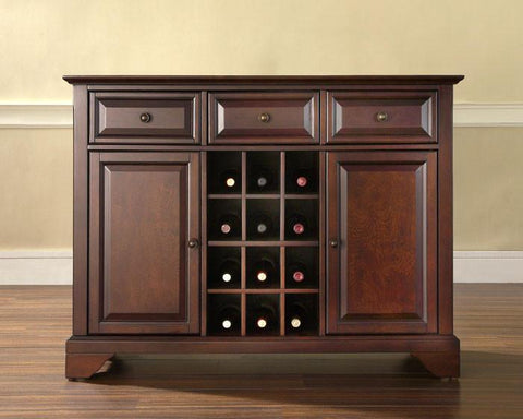 Bayden Hill KF42001BMA LaFayette Buffet Server / Sideboard Cabinet with Wine Storage in Vintage Mahogany Finish - Peazz.com