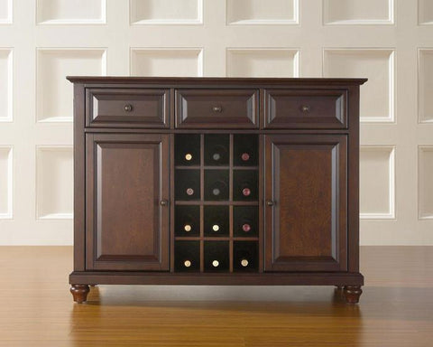 Bayden Hill KF42001DMA Cambridge Buffet Server / Sideboard Cabinet with Wine Storage in Vintage Mahogany Finish - Peazz.com