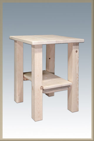 Montana Woodworks MWHCNS Homestead Collection Nightstand w/ Shelf RTF - Peazz.com