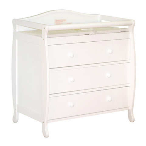 AFG Athena Grace Changing Table in White 3358W - Peazz Furniture