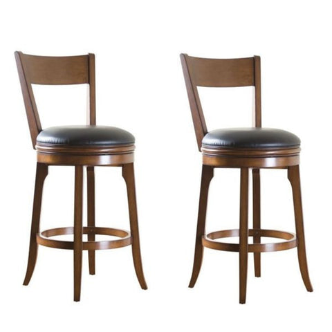 American Heritage Swivel Autumn Bar Stool 30H - Set of 2 (100646SD) - Peazz Furniture