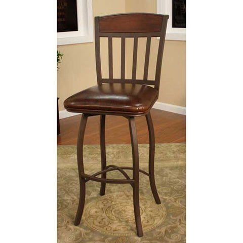 American Heritage Swivel Lancaster Counter Stool 24H (124707GS-L32) - Peazz Furniture