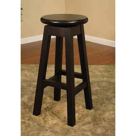 American Heritage Swivel Taylor Counter Stool 24H (124750BLK) - Peazz Furniture
