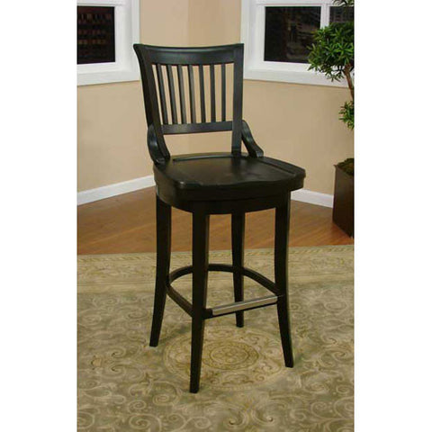 American Heritage Swivel Liberty Counter Stool 26H (126755BLK) - Peazz Furniture