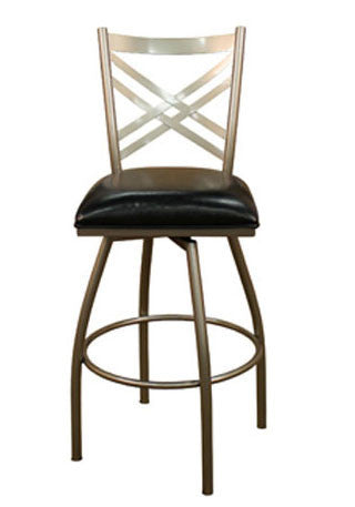 American Heritage Swivel Alexander Counter Stool 24H  (124758SI-L50) - Peazz Furniture