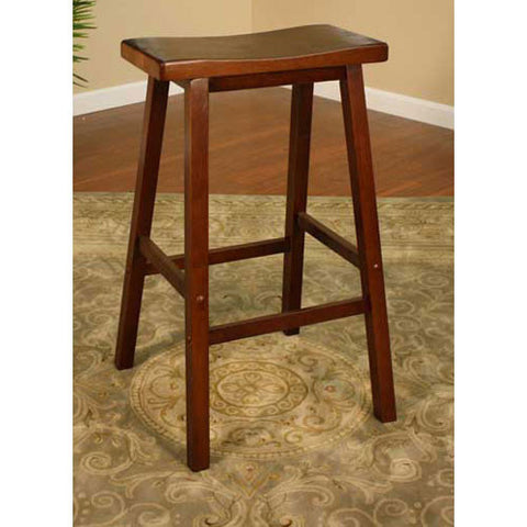 American Heritage Wood Saddle Counter Stool 24H 124802WA - Peazz Furniture