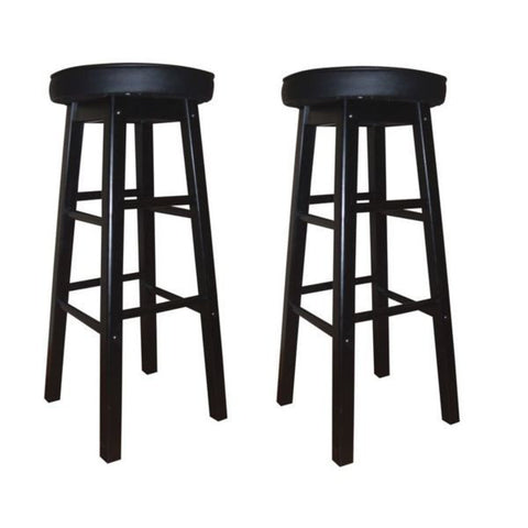 American Heritage Delta Counter Stool 24H - Set of 2 124805BLK-V01 - Peazz Furniture