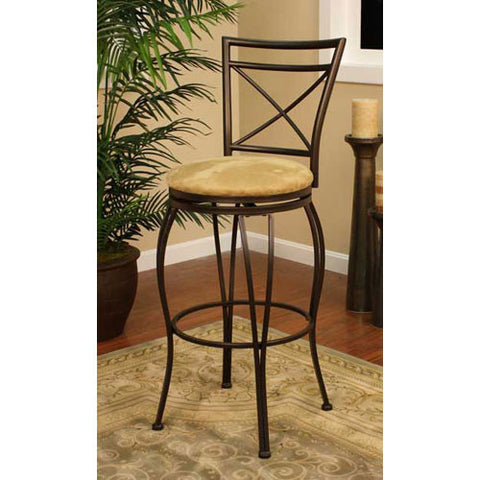 American Heritage Swivel Torino Counter Stool 24H (124830CC-M42) - Peazz Furniture