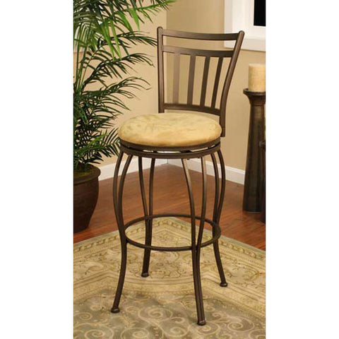 American Heritage Swivel Folio Counter Stool 24H (124831TZ-M42) - Peazz Furniture