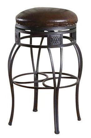 American Heritage Swivel Bella - Backless Bar Stool 30H (130715PP-L32.2) - Peazz Furniture