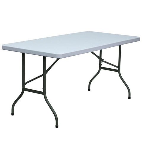 30''W x 60''L Blow Molded Plastic Folding Table DAD-YCZ-152-GG by Flash Furniture - Peazz Furniture