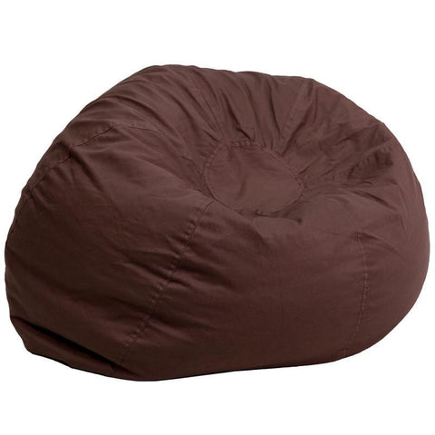 Flash Furniture DG-BEAN-LARGE-SOLID-BRN-GG Oversized Solid Brown Bean Bag Chair - Peazz Furniture