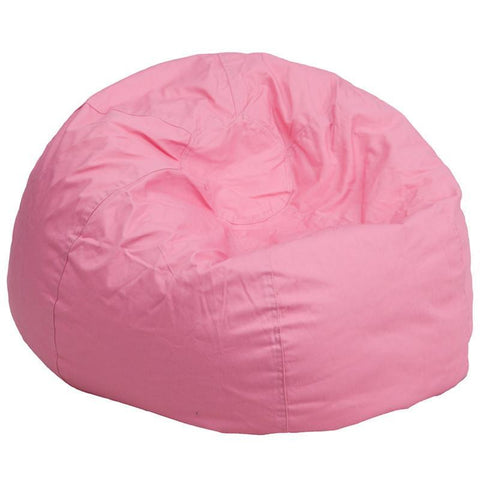 Flash Furniture DG-BEAN-LARGE-SOLID-PK-GG Oversized Solid Light Pink Bean Bag Chair - Peazz Furniture