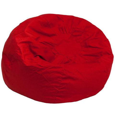 Flash Furniture DG-BEAN-LARGE-SOLID-RED-GG Oversized Solid Red Bean Bag Chair - Peazz Furniture