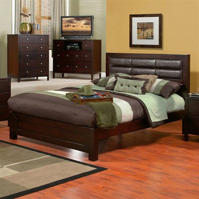Alpine SK-21F Full Panel Bed - Peazz Furniture