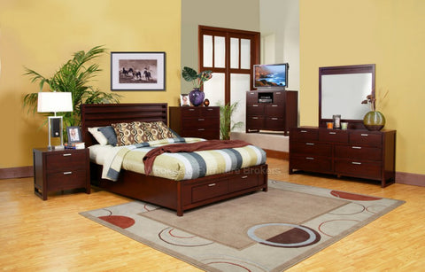 Alpine TA-07 CK Cal. King Storage Platform Bed - Peazz Furniture