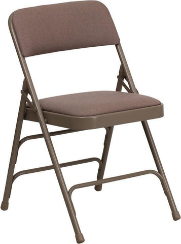 HERCULES Series Curved Triple Braced & Quad Hinged Beige Fabric Upholstered Metal Folding Chair HA-MC309AF-BGE-GG by Flash Furniture - Peazz Furniture