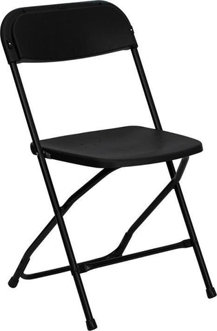 HERCULES Series 800 lb. Capacity Premium Black Plastic Folding Chair LE-L-3-BK-GG by Flash Furniture - Peazz Furniture