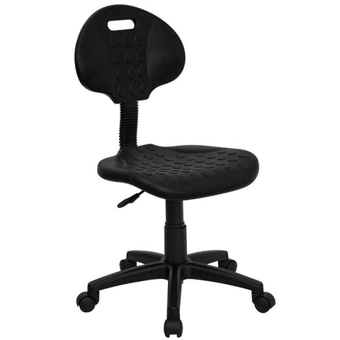 'Tuff Butt'' Soft Black Polypropylene Utility Task Chair WL-908G-GG by Flash Furniture - FlashFurnitureStore