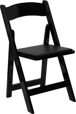 HERCULES Series Black Wood Folding Chair with Vinyl Padded Seat XF-2902-BK-WOOD-GG by Flash Furniture - Peazz Furniture