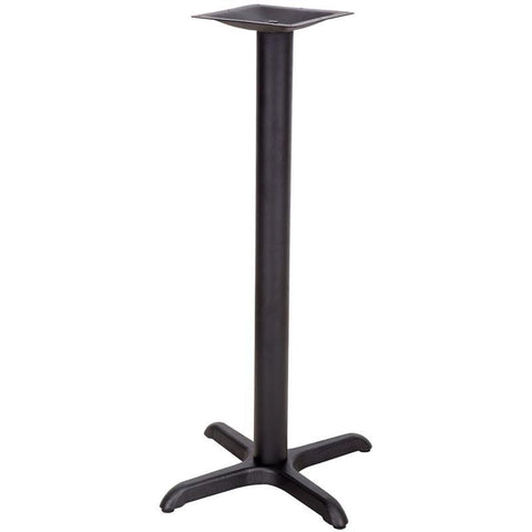 22'' x 22'' Restaurant Table X-Base with 3'' Bar Height Column XU-T2222-BAR-GG by Flash Furniture - Peazz Furniture