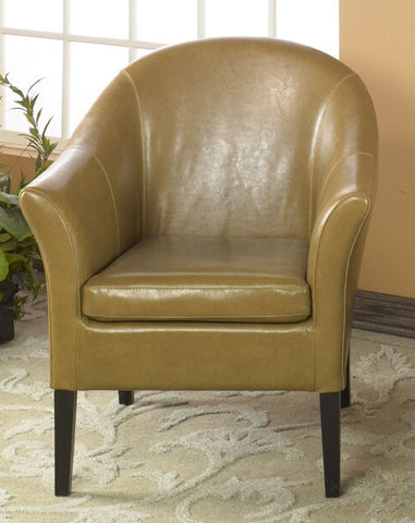 1404 Camel Leather Club Chair by Armen Living - Peazz Furniture