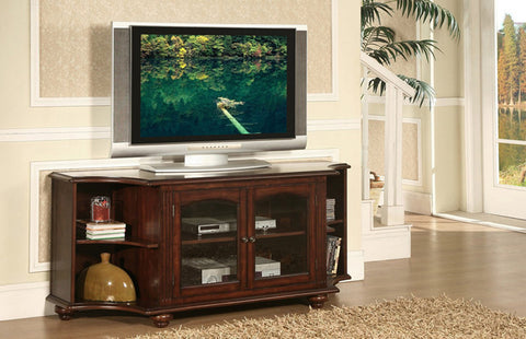 Homelegance 8059-T Piedmont 60in TV Stand in Cherry Finish - Homelegance - Peazz Furniture