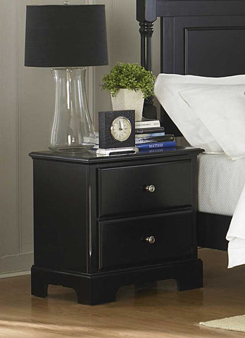 Homelegance 1356BK-4 Morelle Night Stand - Black - Peazz Furniture