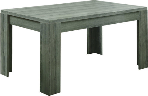 "Monarch Specialties I 1055 Dark Taupe Reclaimed-Look 36""X 60"" Dining Table - Peazz Furniture"