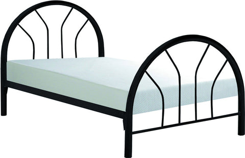 Monarch Specialties I 2389B Black Metal Twin Bed Frame Only - Peazz Furniture