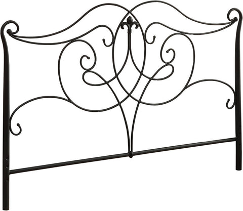 Monarch Specialties I 2611Q Satin Black Queen / Full Size Combo Head / Footboard Only - Peazz Furniture