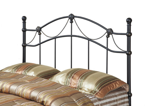 Monarch Specialties I 2621Q Hammered Black Queen/Full Combo Head Or Footboard Only - Peazz Furniture