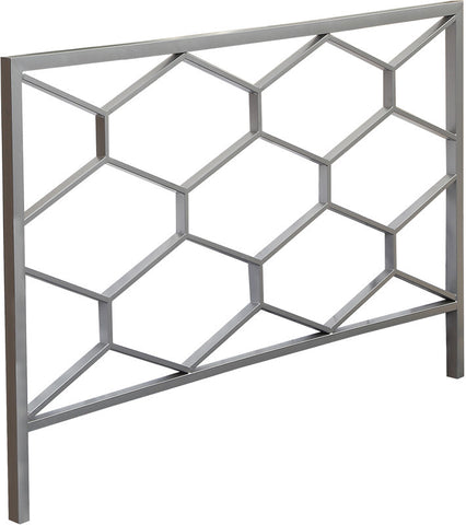 Monarch Specialties I 2626Q Silver Queen / Full Size Combo Headboard / Footboard Only - Peazz Furniture