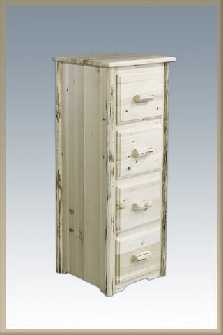 Montana Woodworks MWFCV File Cabinet,  4-Drawer Lacquered - Peazz.com