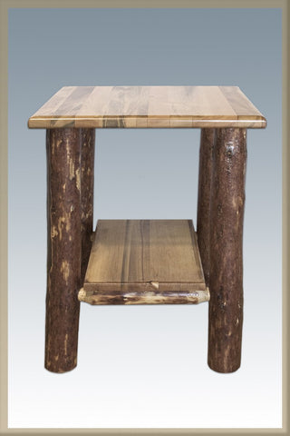 Montana Woodworks MWGCNS Nightstand w/ Shelf Glacier Country - Peazz.com