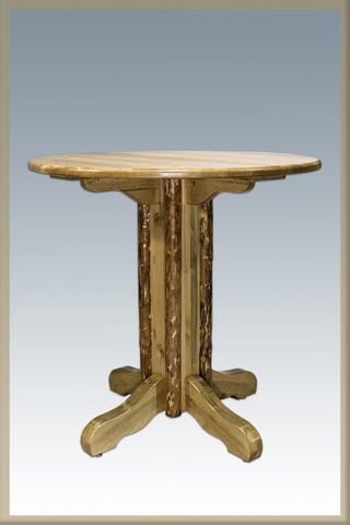 Montana Woodworks MWGCPT Table, Center Pedestal Glacier Country - Peazz.com
