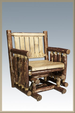 Montana Woodworks MWGCSSGN Single Seat Glider Exterior Glacier Country Finish - Peazz.com
