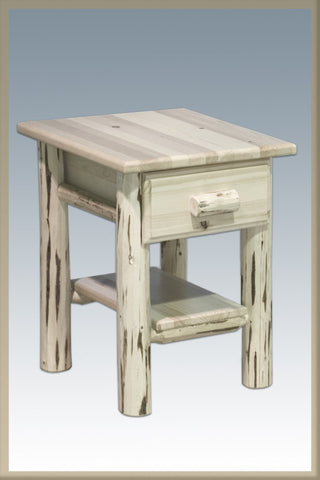 Montana Woodworks MWND Nightstand w/Drawer & Shelf Ready To Finish - Peazz.com